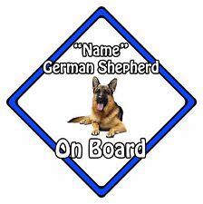 Perro Personalizado a bordo de Coche Signo de seguridad – pastor alemán a bordo de Azul