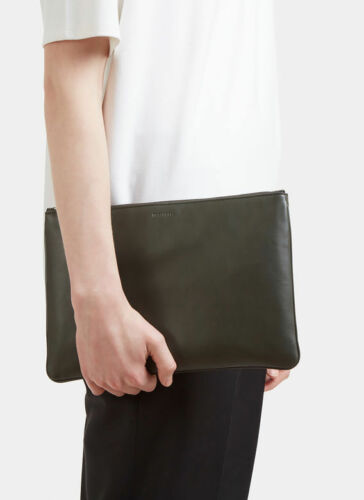 Genuine Envelope Bag Sander Jil Purse Zipped Clutch Leather Taschen Nieuw FgZ7x