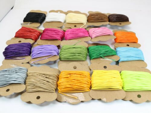 200 Yards Korean Waxed Cord String Thread 1mm for Necklace 20 Color