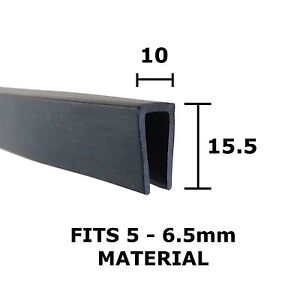 Rubber U Channel Edging Trim Seal Square 15 5mm X 10mm Ebay