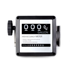 Aluminum 4digital Mechanical Fuel Flow Meter 7 20gpm For All Fuel Transfer Pumps