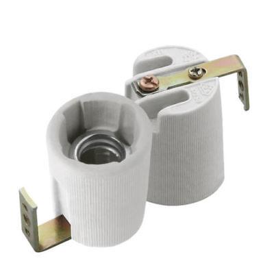 Alimentatore Kanlux E14 Base In Ceramica Socket 240 V Ses Lampadina Lampada Di Calore Morsetto Titolare Staffa Di Fissaggio-
