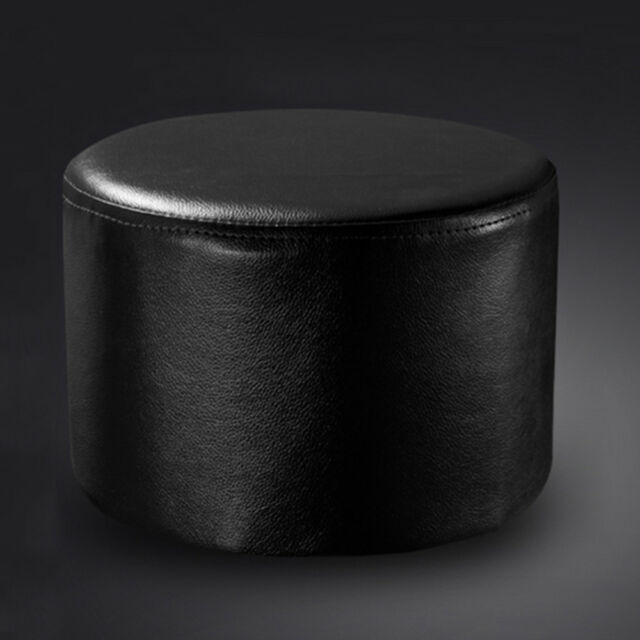 Incredible Pu Leather Ottoman Round Footstool Living Room Bedroom Chair Baby Children Stool Alphanode Cool Chair Designs And Ideas Alphanodeonline