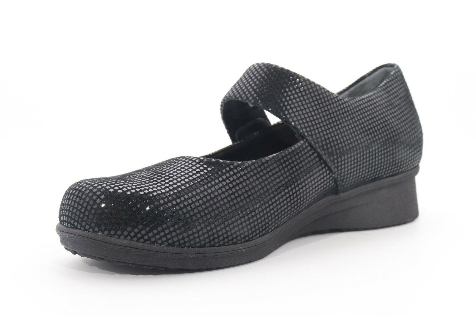 Abeo 24/7 Ella Mary Jane Casual Shoes Black Geo Size US 6