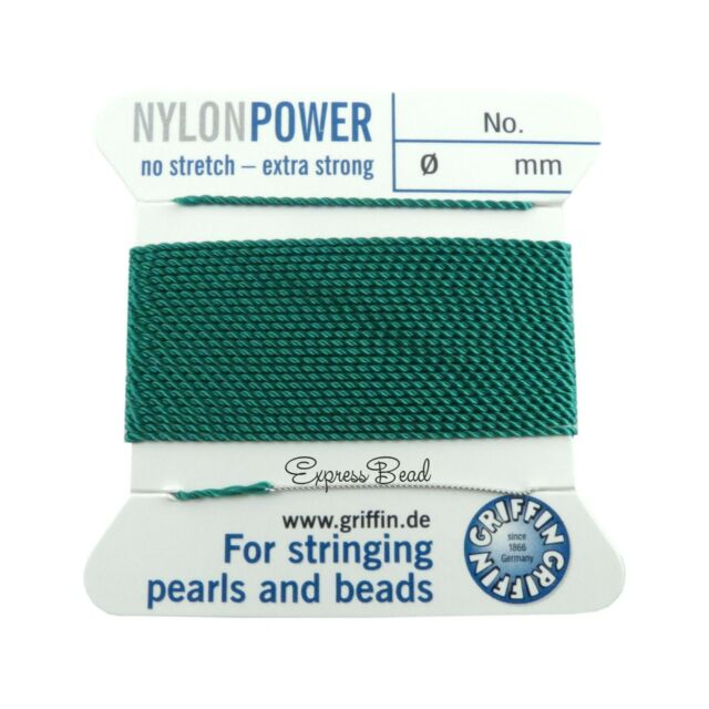 BLUE NYLON POWER SILKY STRING THREAD 0.3mm STRINGING PEARLS /& BEADS GRIFFIN 0