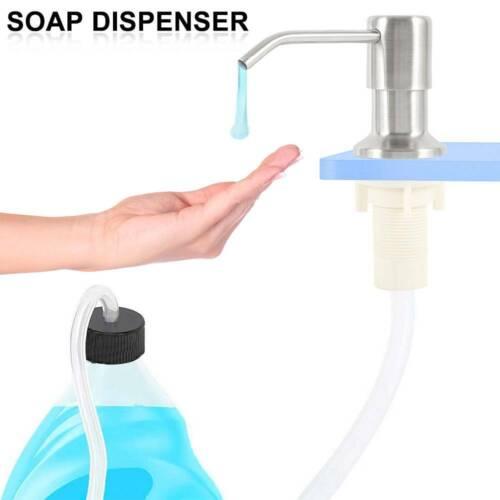 "Stainless Steel DIY Soap Dispenser/&47/"" Extension Tube Kit For Kitchen Sink Pump"