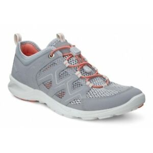 Details about ECCO TERRACRUISE LT Ladies Womens Mesh Outdoor Shoes Trainers Silver Grey