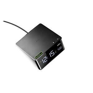 Braun-Uhren-BNC016-BK-LED-Wecker-Schwarz-digitale-Anzeige-Nachweckautomatik