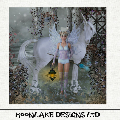 Fairy and Unicorn Home of the SylphArt Craft PanelSewingCraftPrint