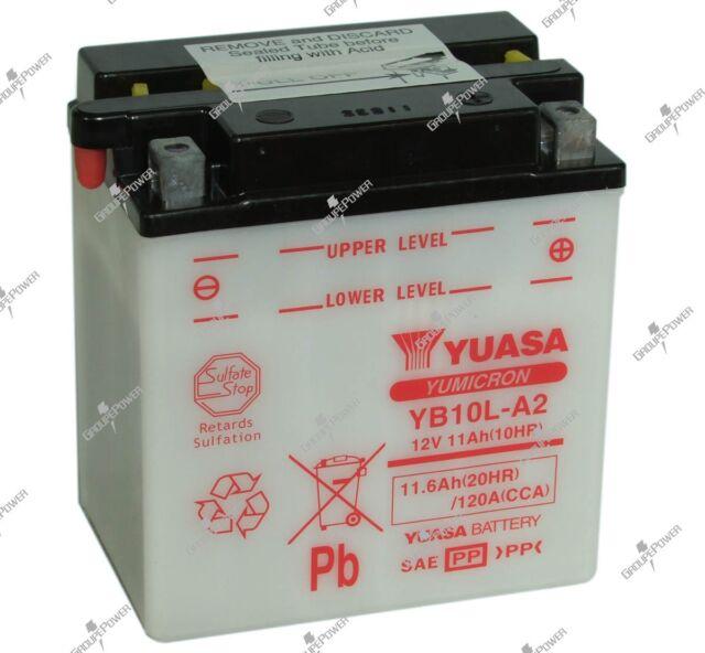 Motorradbatterie Yuasa YB10L-A2 12V 11.6AH 120A 135X90X145MM Säure