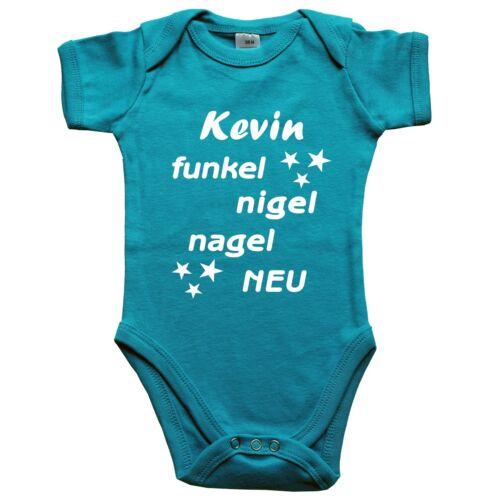 Funkel-Nigelnagelneu MIT oder OHNE Wunschname SOL/'s Baby-Body Strampler