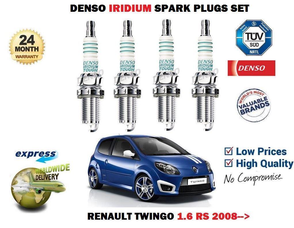 4X IRIDIUM TIP SPARK PLUGS FOR RENAULT CLIO III 1.6 16V GT 2009 ONWARDS