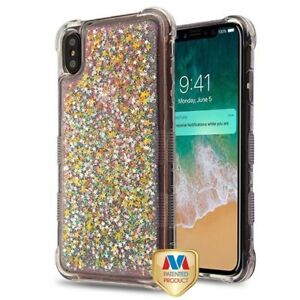 Details About Pink Stars Tuff Quicksand Glitter Lite Hybrid Cover For Apple Iphone Xs Max