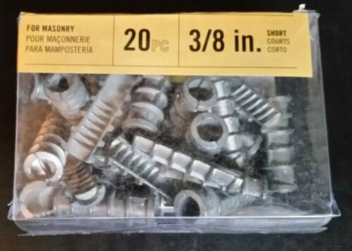 "3//8/"" short 20 pc #0029765 use 5//8/"" Drill Blue Hawk Lag Shields for Masonry"