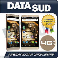Smartphone MEDIACOM PhonePad Duo X555U OCTA 4G LTE ORO/GOLD M-PPAX555U Dual Sim