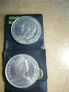 2 X 1981 Charles and Diana Crown coins