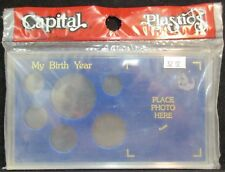 CAPITAL PLASTICS U.S SILVER EAGLE YEAR SET 1995-2003 COIN DISPLAY W//FREE SHP.