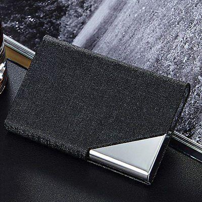 Stylish Women Card Case Men's Metal Business Card Holder High Capacity Metal Box