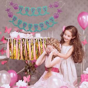 New-Mermaid-Banner-Birthday-Decor-Paper-Tassels-Flower-Ball-18th-Birthday-Decors