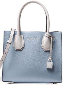New MICHAEL KORS MERCER Studio MD Bonded messenger Leather tote bag ... 0757a7c83867c