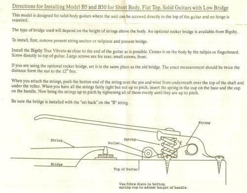 Bigsby B3 Patent Aluminum Electric Guitar Vibrato Tremolo Whammy Bar B3CBVNS