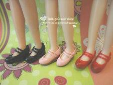 Doll Shoes ~ Takara Licca Mary Jane shoes 3PAIRS SET NEW-Pink/Red/Black