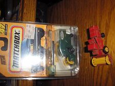 RARE LOT of 2 Different Matchbox Combine Harvesters in plastic protective Case