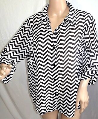 Intro by Jonathan Ross Women Plus Size 1x 2x 3x Pink Button Down Shirt Blouse