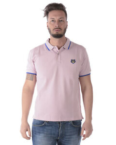 70540b02f5 Details about Kenzo Polo Shirt REGULAR FIT TIGER Cotton Man Pink 4BA5PO201  33 Sz. L PUT OFFER