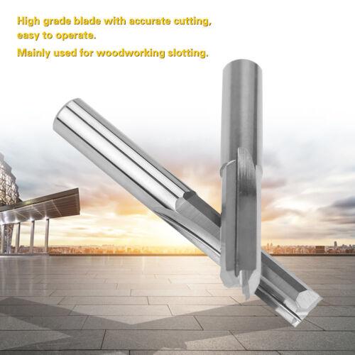 5Pcs 6x22mm Router Cutting Bit Double Flute Straight Slot CNC PCB Milling Cutter