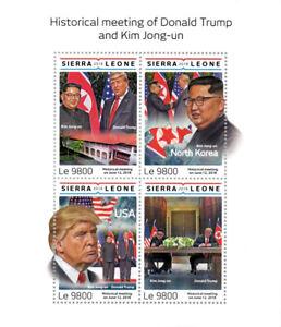 Sierra-Leone-Donald-Trump-Stamps-2018-MNH-Kim-Jong-un-Famous-People-4v-M-S