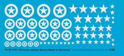 Peddinghaus-Decals 1//35 0781 US Army Markierungen weisse  Sterne