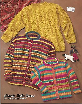 Classic Elite CEY KNITTING PATTERN 811 Tapestry Wool //Mohair Family Pattern Only