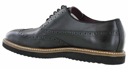 Details about  /Lambretta Mens Smart Leather Evening Work Flat Shoes Brogue Plain Lace UK 7-12