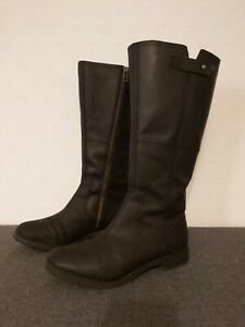 Details about Womens TIMBERLAND Earthkeepers Black LeatherTall Zip Boots UK 5 VGC!
