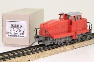 MARKLIN-3078-h0-Locomotive-Locomotive-Werkslok-DHG-500-Rouge-Analogique-bien