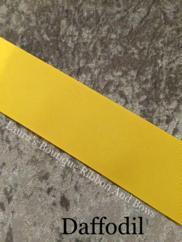 """3,5 /& 10 M longueurs différentes couleurs 50 mm Gros-Grain Ruban 2/"""" 1"""