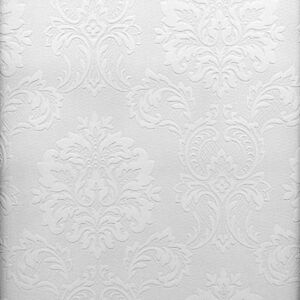 Charmant Details About Easy Textures Damask Paintable Wallpaper By Brewster 32808