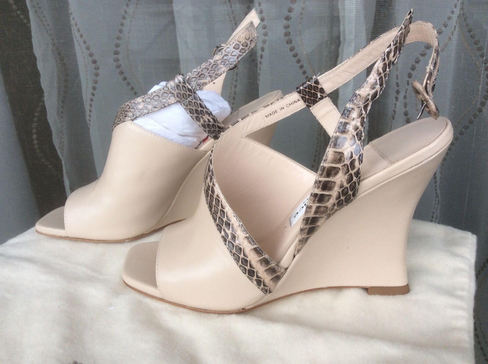 La Fenice S9758A-00913A Beige Damenschuhe Schuhes Größe 6 Heels MSRP 165