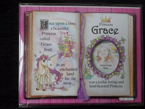 Grace Princesse Licorne Mount cadeau avec poésie et photo de l/'espace-Choisir un cadre