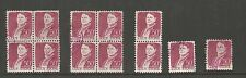 US Stamp #1293 used: 1968 50c Lucy Stone [12 ] Includes 2 blocks of 4 ref 604