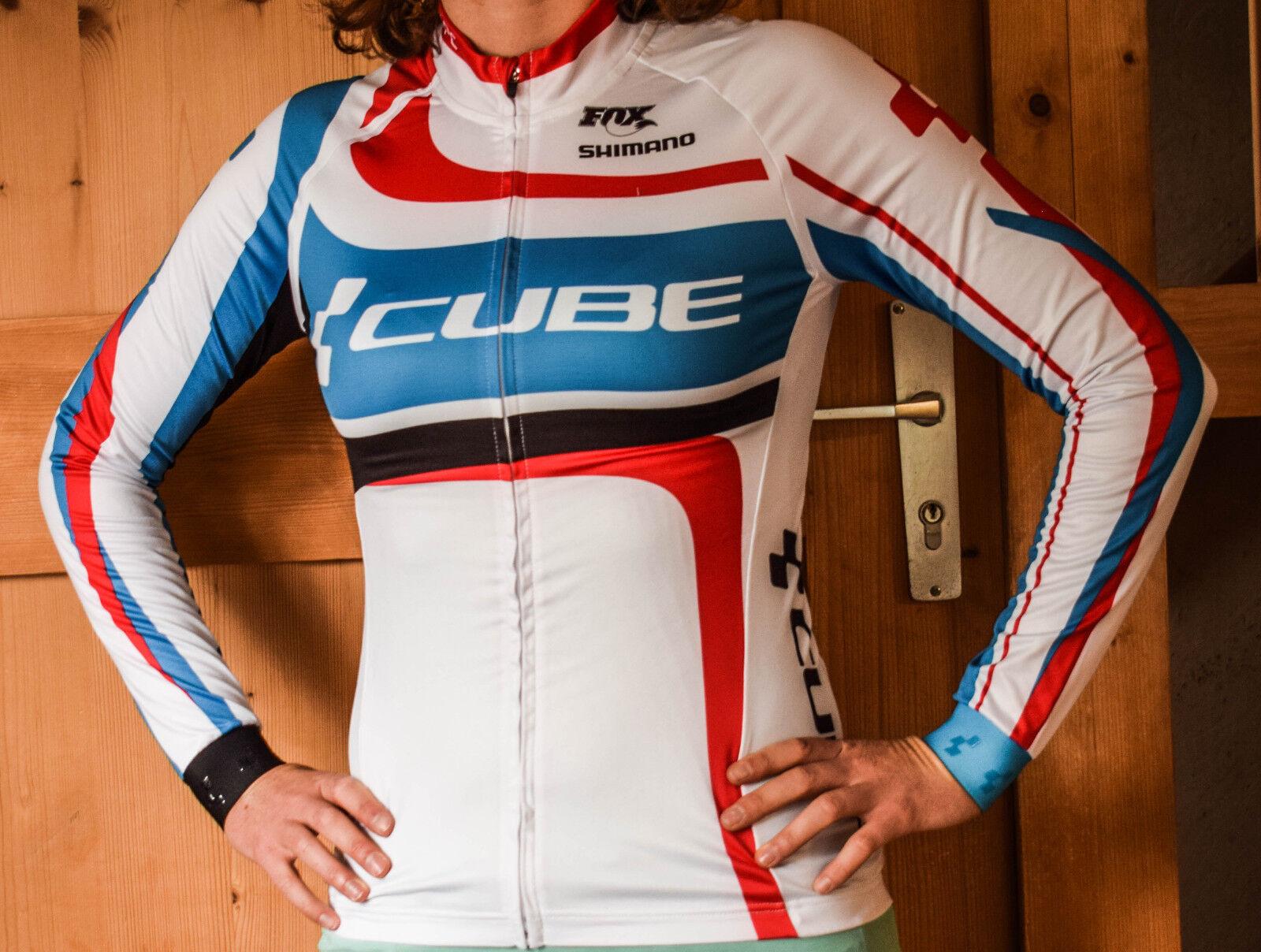 Cube Teamline WLS Radtrikot Damen langarm Gr. XL   11167 WLST1   1a3136