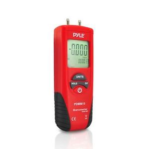 New PDMM15 Digital Manometer Gauge/Differen<wbr/>tial Pressure Meter 11 Pressure Units