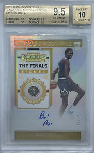 2019-20 BOL BOL Panini Contenders Ticket VARIATIONS-FINAL AUTO RC /49 BGS 9.5/10
