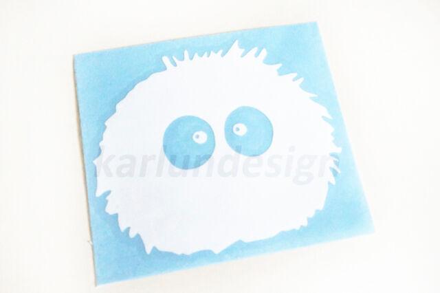 "Soot Sprites ""Susuwatari"" (Dust Bunny) Vinyl Decal Sticker Totoro Ghibli"