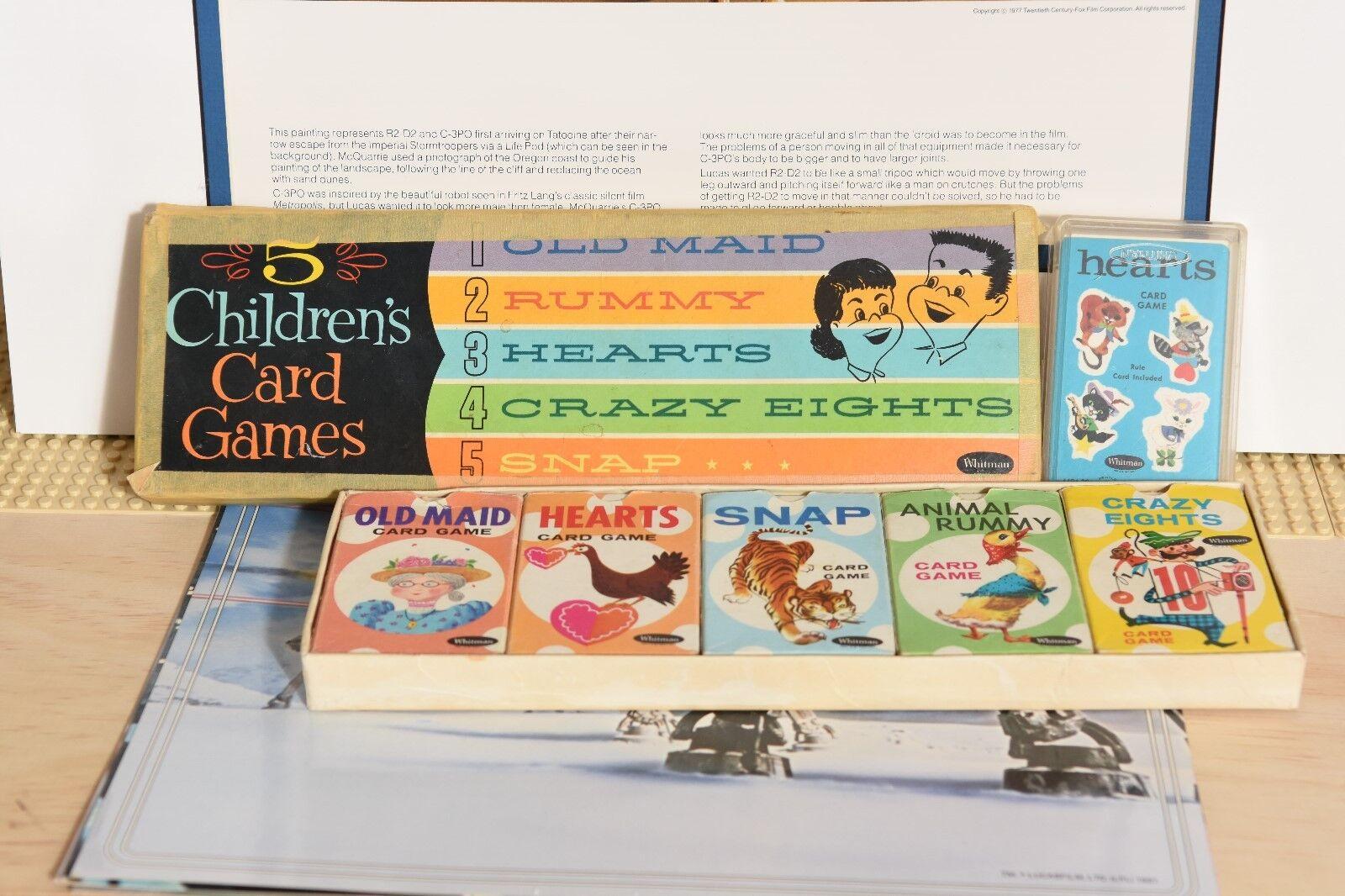 Vintage d'occasion années 1950 Whitman 5 enfants jeux de cartes