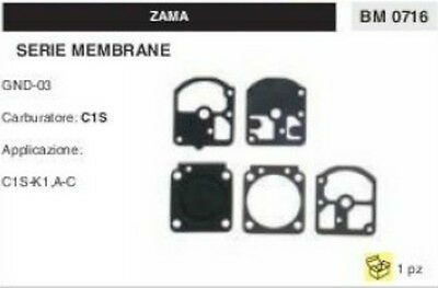 KIT SERIE MEMBRANE membrana COMPLETA PER CARBURATORE C1S ZAMA GND-03