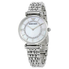 Armani Womens AR1908 Mother of Pearl Dial Giannia T-Bar Watch  COA RRP £379.00