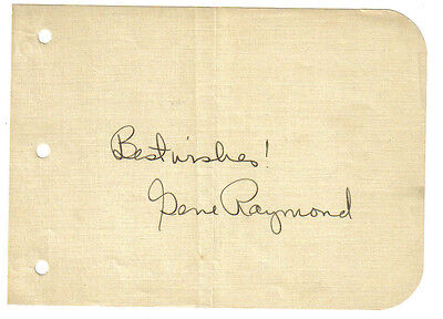 Movies Cards & Papers Gene Raymond 1930's Original Hand Signed Autograph