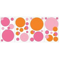 Wall Pockets Pink & Orange Peel & Stick Wall Mural 35 Decals Stickers